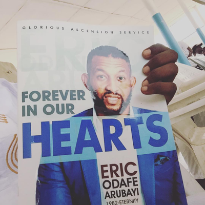 Photos From Late Singer, Eric Arubayi's Funeral + his wife murns him tribute on Instagram